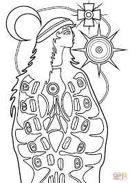 the virgin mary by norval morrisseau coloring page free
