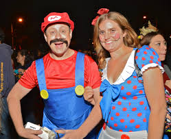 west hollywood halloween party halloween west hollywood 2012 super mario and girlfriend a photo