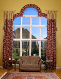 arched window curtain rod size cabinet hardware room wonderful
