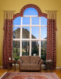 wonderful arched window curtain rod