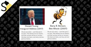 donald trump plagiarize inaugural address u0027bee movie