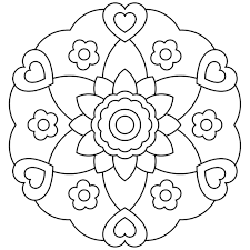 free printable mandala coloring page coloring pages kids