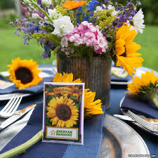 sunflower seed wedding favors sunflower seed packet american