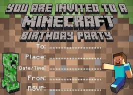 12 best invitation images on pinterest 7th birthday minecraft