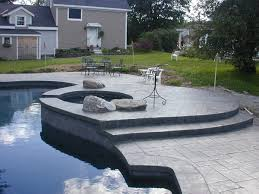 Stamped Concrete Backyard Ideas Concrete Patio Ideas Patio With Colored Concrete Stamped Concrete