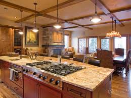 island kitchen island with sink and stove top