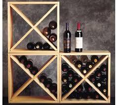 pine wine rack cube 24n