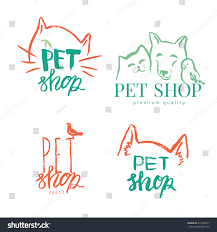 vector typography illustration cat dog logo stock vector 473160217