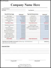Free Excel Payroll Template Payroll Template Word Excel Pdf