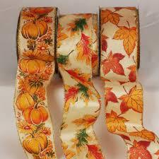 wired fall colors ribbon fall ribbon