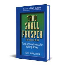 thou shall prosper the ten commandments for making money rabbi