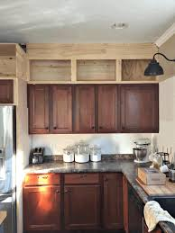 cabinet top molding ideas modern brown wooden counter sleek white
