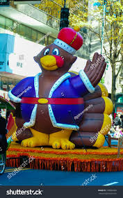 charlotte thanksgiving parade infalable thanksgiving turkey waving crowd thanksgiving stock