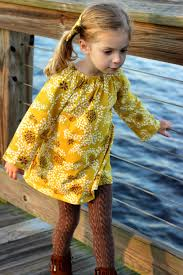 mustard floral long sleeve toddler peasant dress long sleeve