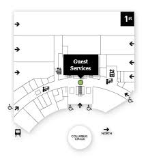 time warner center floor plan guest services the shops at columbus circle