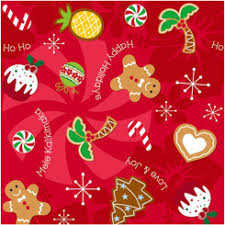 christmas gift wrapping paper hawaiian tissue and wrapping pager from buns of