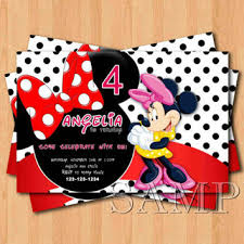 shop minnie mouse birthday invitations on wanelo