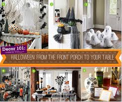 halloween decorations from the front porch to your table