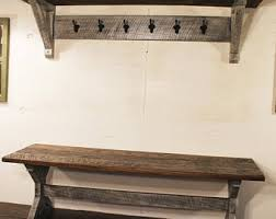 entryway bench with coat rack etsy