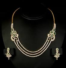 emerald gold necklace images Single line diamond necklace 25 00 ct emerald gold vacation jpg&a