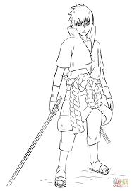 sasuke uchiha from naruto coloring page free printable coloring
