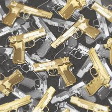 home design 3d gold for windows muriva guns pattern gold silver urban bling motif pistol wallpaper