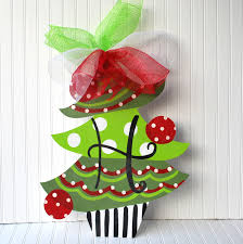 unfinished wood shape christmas tree door hanger christmas