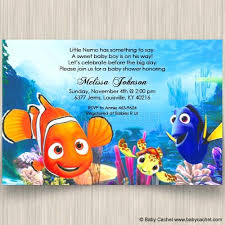 baby shower invitations attractive finding nemo baby shower