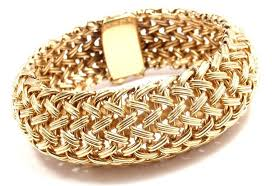 gold bangle bracelet tiffany images Tiffany and co wide woven braided yellow gold bracelet at 1stdibs jpg