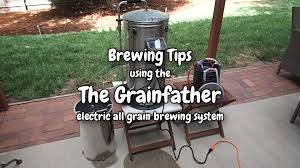 the grainfather brew day tips youtube