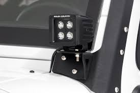 jeep lights on top 2 inch square cree led fog light kit for 07 09 jeep jk wrangler