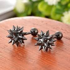 cool earrings for men spike earrings for men picture more detailed picture about