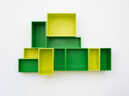 green and yellow ikea yellow book shelf can be applied on the
