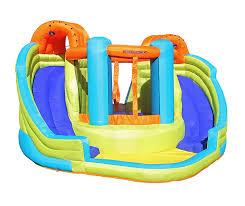 amazon com sportspower double slide u0026 bounce inflatable water