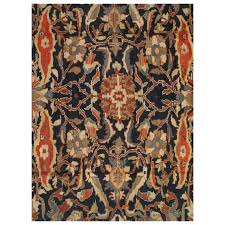 Blue And Gold Rug Antique Persian Sultanabad Carpet Handmade Oriental Rug Navy