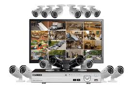 complete security system with monitor 12 wired 1080p outdoor