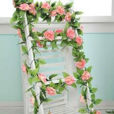 2017 artificial rose vines silk craft flowers real touch flowers