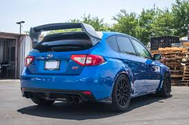 subaru impreza hatchback modified new carbon fiber rally wing for subaru wrx sti hatchback u2013 agency