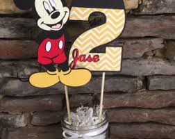 Mickey Mouse Center Pieces Mickey Birthday Etsy
