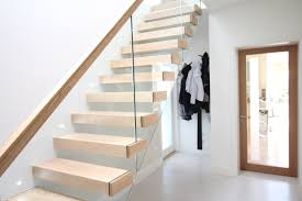 contemporary stairs ireland by jea modern oak cantilevered with a