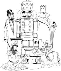 coloring page to do while listening to nutcracker homeschooling