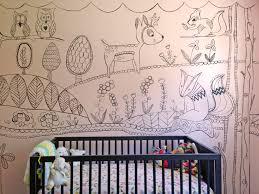 nursery hand painted mural by lexisworks fox deer owl trees nursery hand painted mural by lexisworks fox deer owl trees