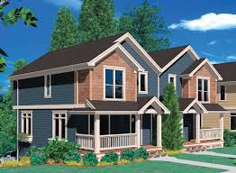 plan 69388am double garage tucked into hillside compact house