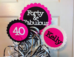 40th birthday delivery birthday decorations 3 centerpiece sign set with