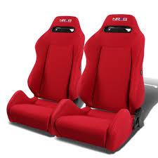 Comfortable Racing Seats Amazon Com Nrg Rsc 200 Nrg Type R Black Cloth Sport Seats With