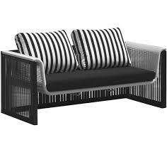 canape de jardin canapé de jardin noir et blanc 269 salon d été