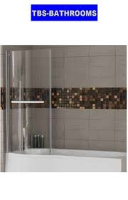 concert right handed shower bath with luxury screen 1600 x 850