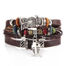 leather bracelet styles images Trendy leather bracelet for men and women 5 styles body chain jpg