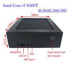 pc bureau avec ssd icelemon mini pc de bureau avec processeur intel i7 6700 t 4c8t