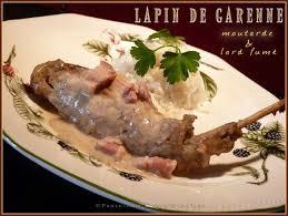cuisiner un lapin de garenne lapin de garenne à la moutarde et lard fumé pause gourmandises